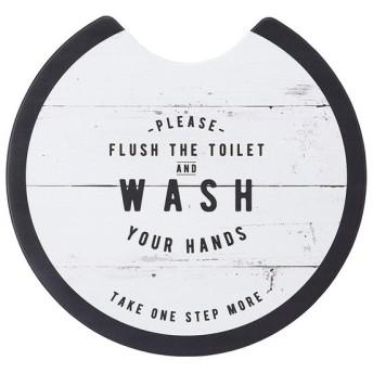 ベストコ トイレマット ラウンド ルール ホワイト さらっと拭ける お手入れ簡単 ND-9965