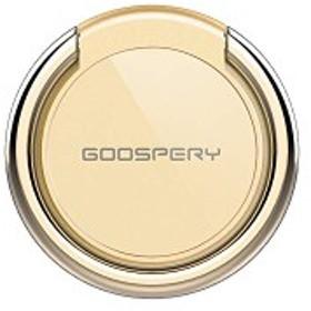 スマホリング バンカーリング iPhone/Android/全機種対応 [360°回転/スマホスタンド/強力吸着] GOOSPERY ゴールド 送料無料