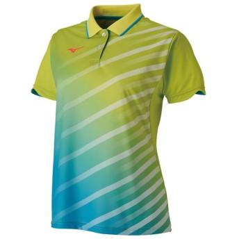 MIZUNO SHOP [ミズノ公式オンラインショップ] ゲームシャツ(卓球)[レディース] 37 ライムグリーン 82JA9202