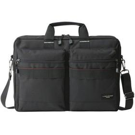 メンズ ビジネスバッグ リナジーノ ブリーフ2ポケット ブラック バッグ かばん カバン 鞄