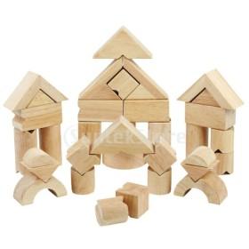 木製のビルディングブロック子供のおもちゃモンテッソーリ早期学習教育ゲーム