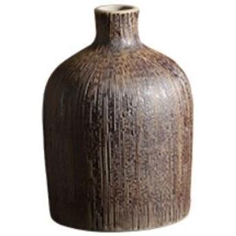 【お取り寄せ】花瓶 和風デザイン シックな焼き物風 和モダン 陶器製 (Aタイプ)