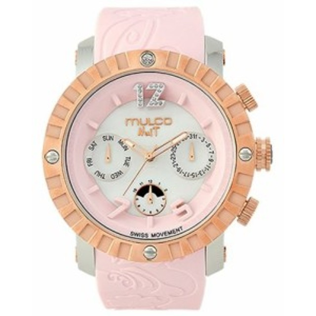 Mulcoユニセックスmw51876813Nuit Lace XLアナログ表示SwissクオーツPink Watch