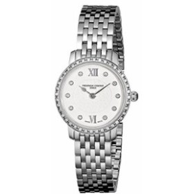 Frederique Constant Womens FC200WHDSD6B Diamond-Accented Watch