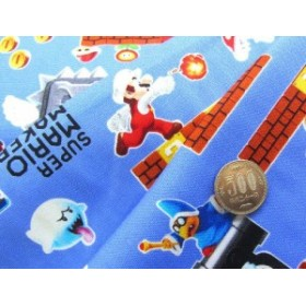 キャラクター 生地 お手軽 セット  スーパーマリオメーカー(ブルー)#2 ( 2018 )