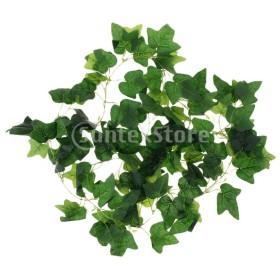 装飾用人工植物 布製葉 緑色 写真小物 パーティー装飾