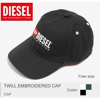DIESEL ディーゼル 帽子 メンズ ツイル エンブロイディド キャップ 00SIIQ