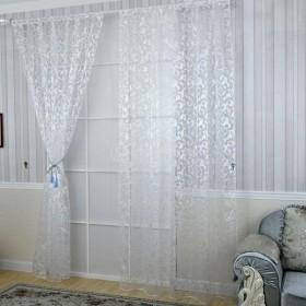 全5色選ぶ  美しい  窓  ドア カーテン パネル  自宅 ホテル 飾り 100200cm   - 白色