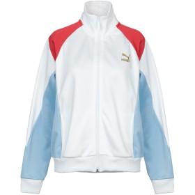 《期間限定 セール開催中》PUMA レディース スウェットシャツ ホワイト XS ポリエステル 59% / コットン 41% / ポリウレタン
