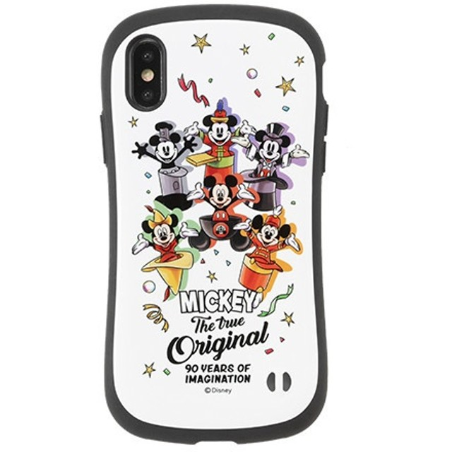 [iPhone XS/X専用]ミッキーマウス/90周年記念 /ディズニーキャラクター iFace First Class ケース 41-904701 ミッキーマウス/集合/ホワイト