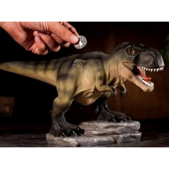 置物 貯金箱 恐竜モチーフ ダイナソー リアル 迫力満点 (ティラノサウルス)