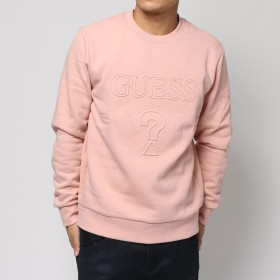 トレーナー - GUESS【MEN】 [GUESS] EMBOSS LOGO L/S CREW SWEAT