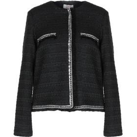 《セール開催中》TWENTY EASY by KAOS レディース テーラードジャケット ブラック 40 ポリエステル 45% / アクリル 25% / コットン 15% / ウール 9% / ナイロン 6%