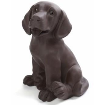【お取り寄せ】置物 茶寵 茶玩 中国茶道具 リアルな犬 ラブラドールレトリバー (おすわり)
