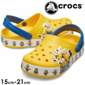 キッズ ジュニア 男の子 女の子 クロッグサンダル クロックス crocs 205512 子供靴 ファンラブ ミニオンズ マルチ クロッグ イエロー
