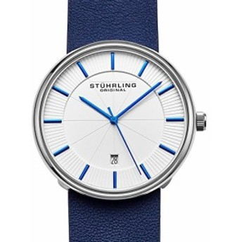 Stuhrling Original Classic Everyday Wrist Watch for Men、カジュアルアナログステンレススチールメンズクォーツ腕時計ホワ