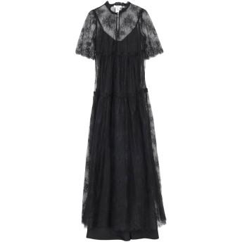 《セール開催中》BLUGIRL BLUMARINE レディース ロングワンピース&ドレス ブラック 40 ナイロン 100%