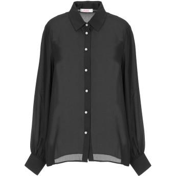 《セール開催中》BLUGIRL BLUMARINE レディース シャツ ブラック 38 ポリエステル 100%