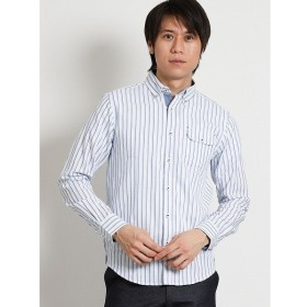 [マルイ]【セール】パナマストライプ ボタンダウン長袖シャツ/タカキュー(TAKA-Q)