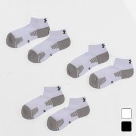 アンダーアーマー UNDER ARMOUR メンズ ソックス UA HEATGEAR TECH LOCUT 3PK 1312430