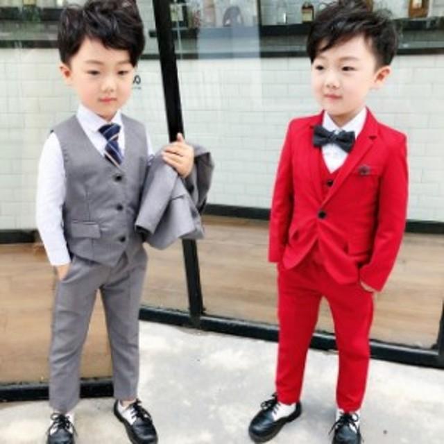 c8053168828ea 子供服 スーツ 男の子 フォーマル 入学式 3点セット ジュニア キッズ 男児 卒園式
