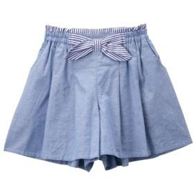 リボン付キュロット(女の子 子供服。ジュニア服) キュロット・パンツインスカート・スカート