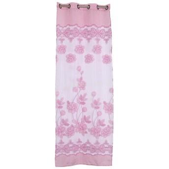 高品質 ドアカーテン カーテン 装飾 窓 部屋 ボイルカーテン 子供 寝室 250x100cm 花柄 (ライトパープル)