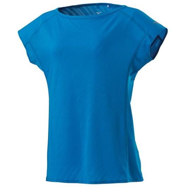MIZUNO SHOP [ミズノ公式オンラインショップ] ジャカードフレンチスリーブシャツ[レディース] 24 ブリリアントブルー J2MA9216