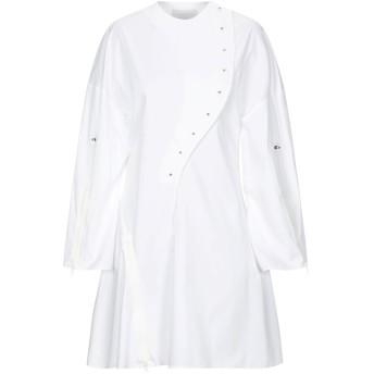 《セール開催中》ESTEBAN CORTAZAR レディース ミニワンピース&ドレス ホワイト 34 コットン 68% / ナイロン 29% / ポリウレタン 3%