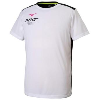 MIZUNO SHOP [ミズノ公式オンラインショップ] N-XT Tシャツ[ユニセックス] 01 ホワイト×ブラック 32JA9215