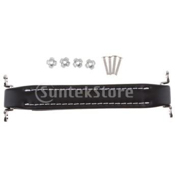レザーハンドルストラップ 取っ手 ベース ギター アンプ スピーカー用 交換 修理用 全6色 - 4