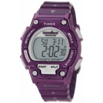 Timex Women &aposs t5K5589j Sport Ironmanパープルフルサイズショック30Lap Watch