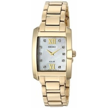 セイコーWomen s Solar Goldtone Mother of Pearl Watch