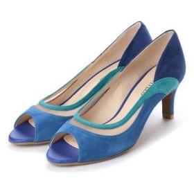 アンタイトル シューズ UNTITLED shoes オープントゥパンプス (ブルーコンビ)