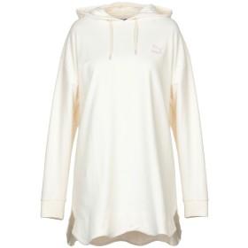 《期間限定セール開催中!》PUMA レディース スウェットシャツ アイボリー XS コットン 88% / ポリエステル 12% / ポリウレタン