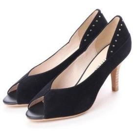 アンタイトル シューズ UNTITLED shoes オープントゥパンプス (ネイビースエード)