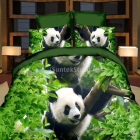 3D 布団カバー ベッドシーツ リネン 枕カバー ピローケース 寝具セット 10種類選べる - 3