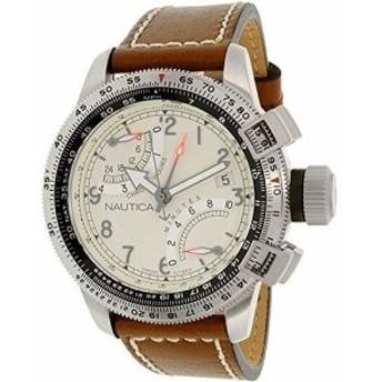 ノーティカMen &aposs nad24504g BFC Flyback Chronoアナログ表示アナログクォーツブラウン腕時計