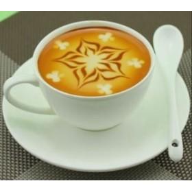 【お取り寄せ】食品サンプル コーヒー ラテアート カフェ (雪の結晶風A)