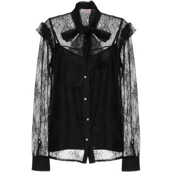 《セール開催中》BLUGIRL BLUMARINE レディース シャツ ブラック 42 ナイロン 100%