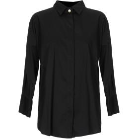《期間限定セール開催中!》MASSIMO REBECCHI レディース シャツ ブラック S コットン 79% / ナイロン 18% / ポリウレタン 3%