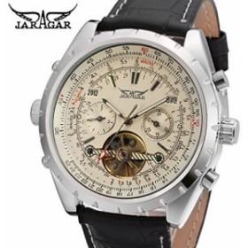 FORSININGメンズ本革自動手首腕時計jag212m3s6