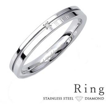 リング メンズ ステンレス 刻印 ダイヤモンド シンプル シルバーカラー ローマ数字 円周率 おしゃれ 指輪 サージカルステンレス 316L (gr