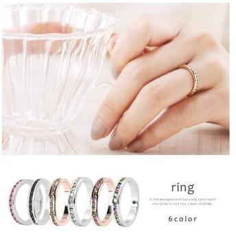 指輪 ペアリング レディース ピンキーリング シルバー アクセサリー ジルコニア ≪ゆうメール便配送10・代引不可≫