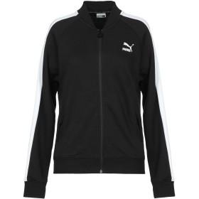 《期間限定 セール開催中》PUMA レディース スウェットシャツ ブラック XS コットン 68% / ポリエステル 32% / ポリウレタン