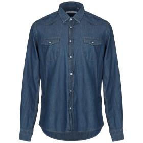 《期間限定 セール開催中》MR MASSIMO REBECCHI メンズ デニムシャツ ブルー 38 コットン 100%