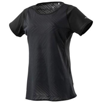 MIZUNO SHOP [ミズノ公式オンラインショップ] ジャカードTシャツ[レディース] 09 ブラック J2MA9215