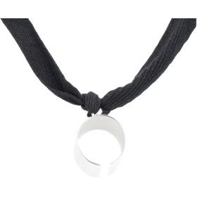 《セール開催中》MM6 MAISON MARGIELA レディース ネックレス ブラック S 真鍮/ブラス 100% / コットン