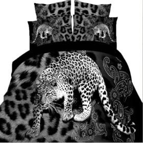 3D 布団カバー ベッドシーツ リネン 枕カバー ピローケース 寝具セット 10種類選べる - 9