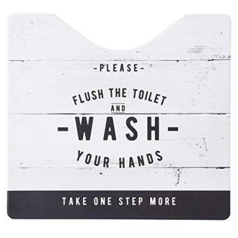 ベストコ トイレマット スクエア ルール ホワイト さらっと拭ける お手入れ簡単 ND-9955